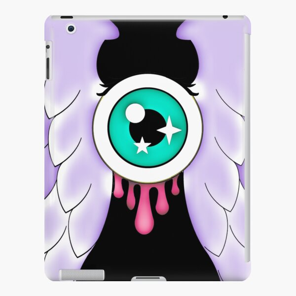 Pastel Goth   Winged Eye   Black iPad Snap Case
