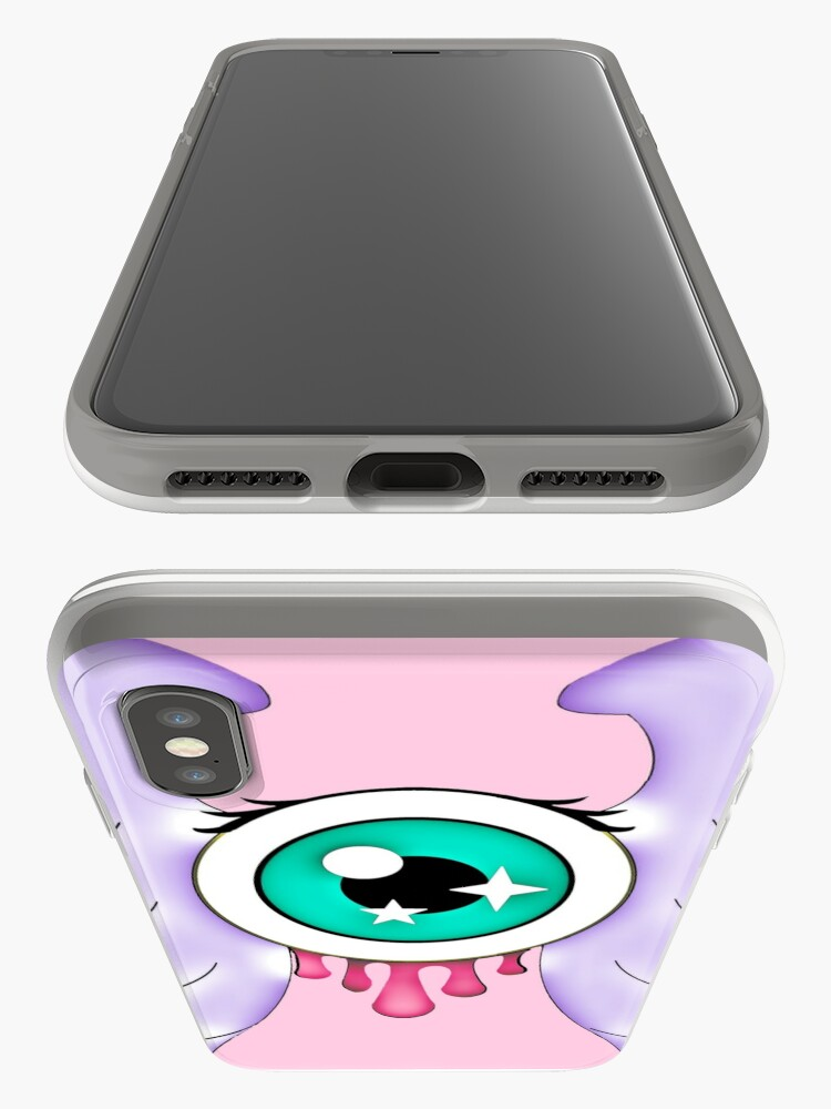 Alternate view of Pastel Goth | Winged Eye | Pink iPhone Case & Cover