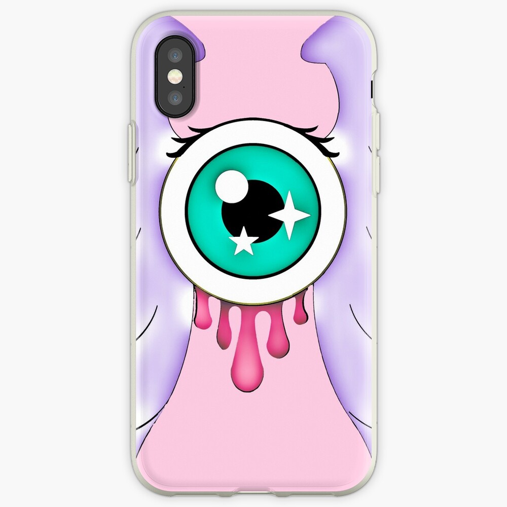 Pastel Goth | Winged Eye | Pink iPhone Case & Cover