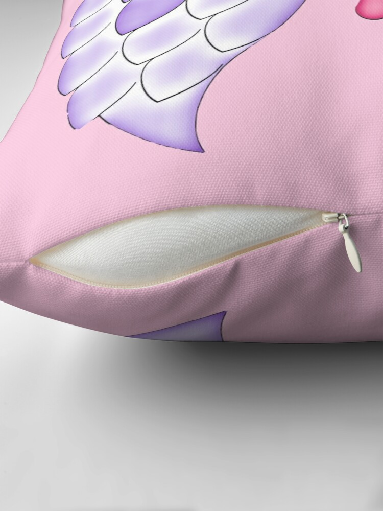 Alternate view of Pastel Goth | Winged Eye | Pink Throw Pillow