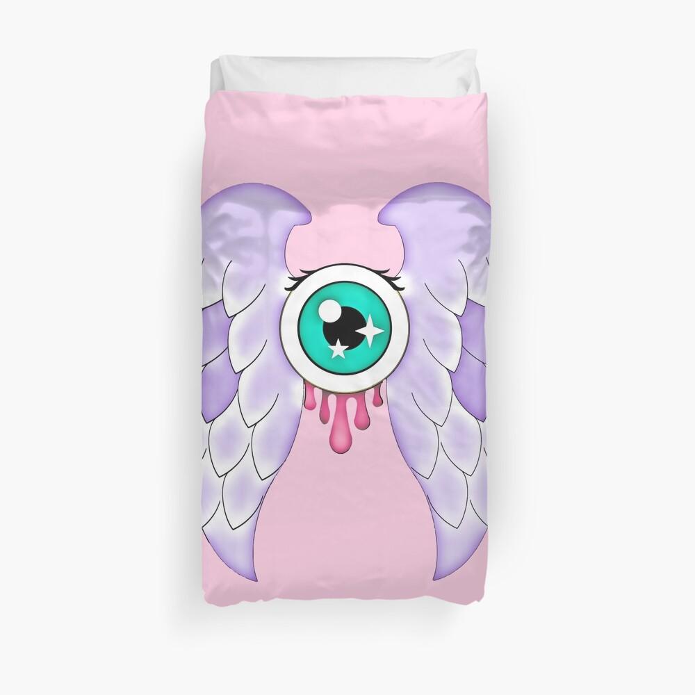 Pastel Goth | Winged Eye | Pink Duvet Cover