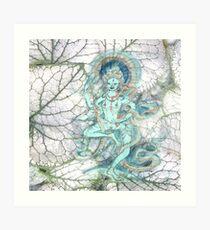 Leaf Dancer Art Print