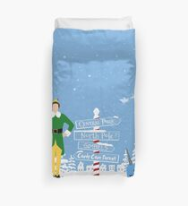 Buddy the Elf signs and Mr. Narwhal Duvet Cover