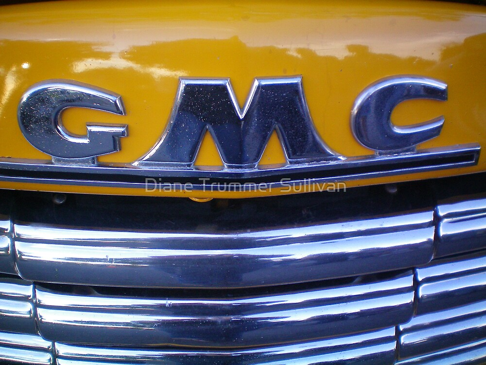 CHROME 48 GMC GRILL close up by Diane Trummer Sullivan