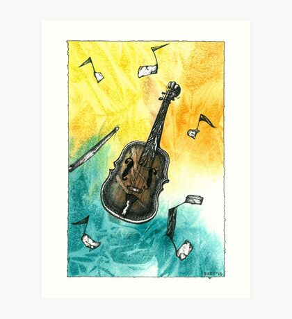 Fiddle Notes Art Print