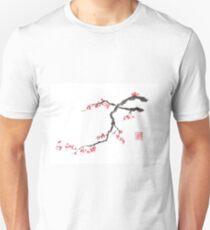 Blushing maid sumi-e painting T-Shirt
