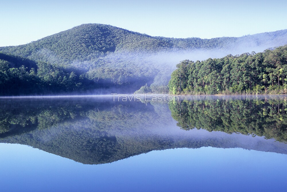 Lake Muratore reflection by Travis Easton