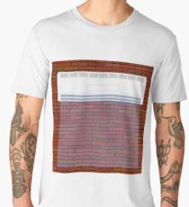 Wall-mounted Air Conditioner Icon. Air Purifier. Air Conditioner on the Red Brick Wall. Men's Premium T-Shirt