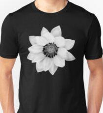 Black and White Gazania [Print and iPhone / iPad / iPod Case] Unisex T-Shirt