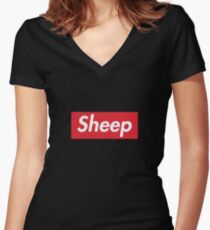 SHEEP Supreme Women's Fitted V-Neck T-Shirt