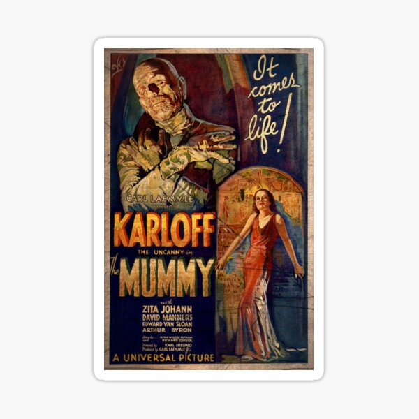 I Love My Mummy! 40s Horror Movie Sticker