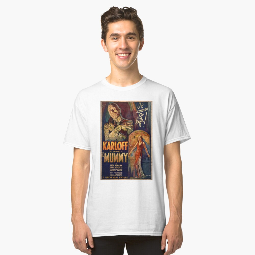 I Love My Mummy! 40s Horror Movie Classic T-Shirt