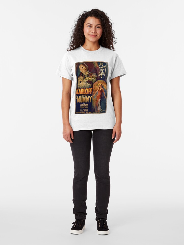Alternate view of I Love My Mummy! 40s Horror Movie Classic T-Shirt