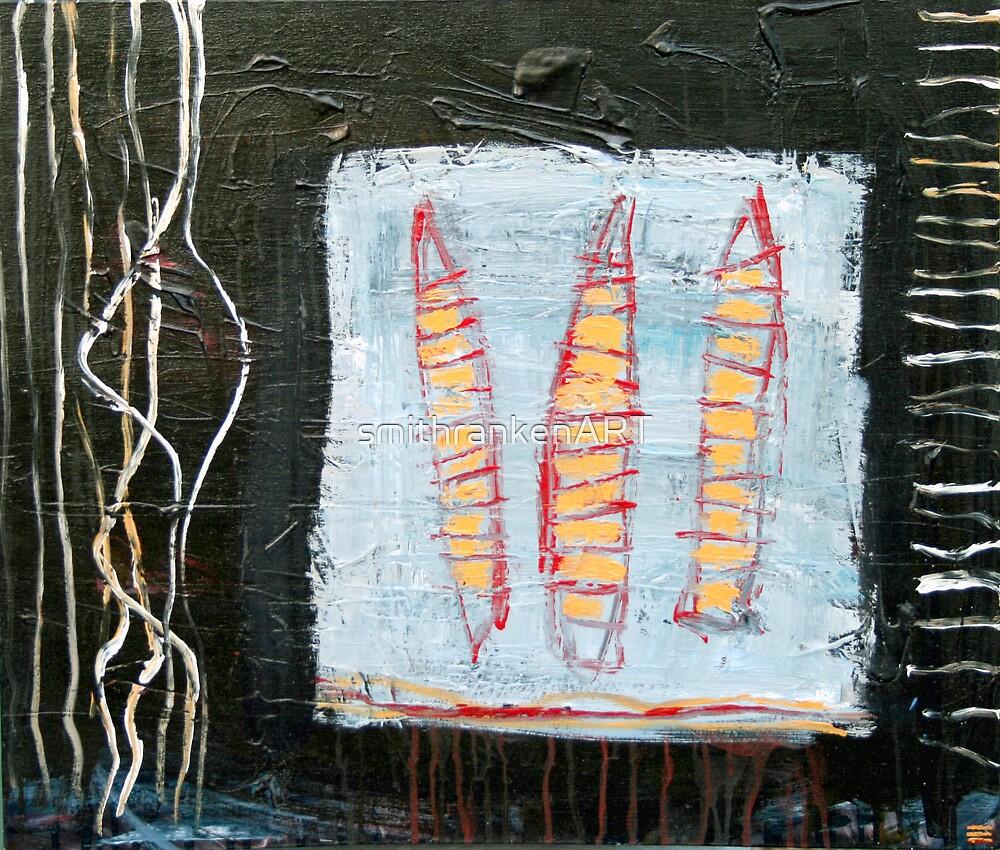Canoemen by Mark Elliot-Ranken by smithrankenART