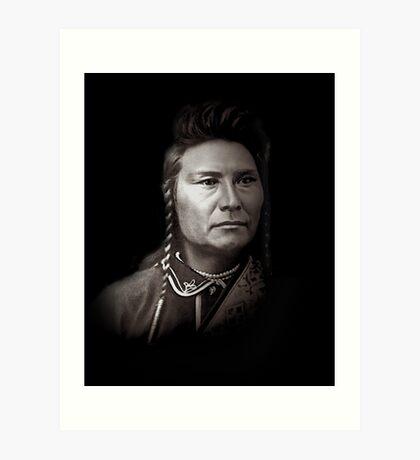 Chef Joseph des Nez Perce Indianer Kunstdruck