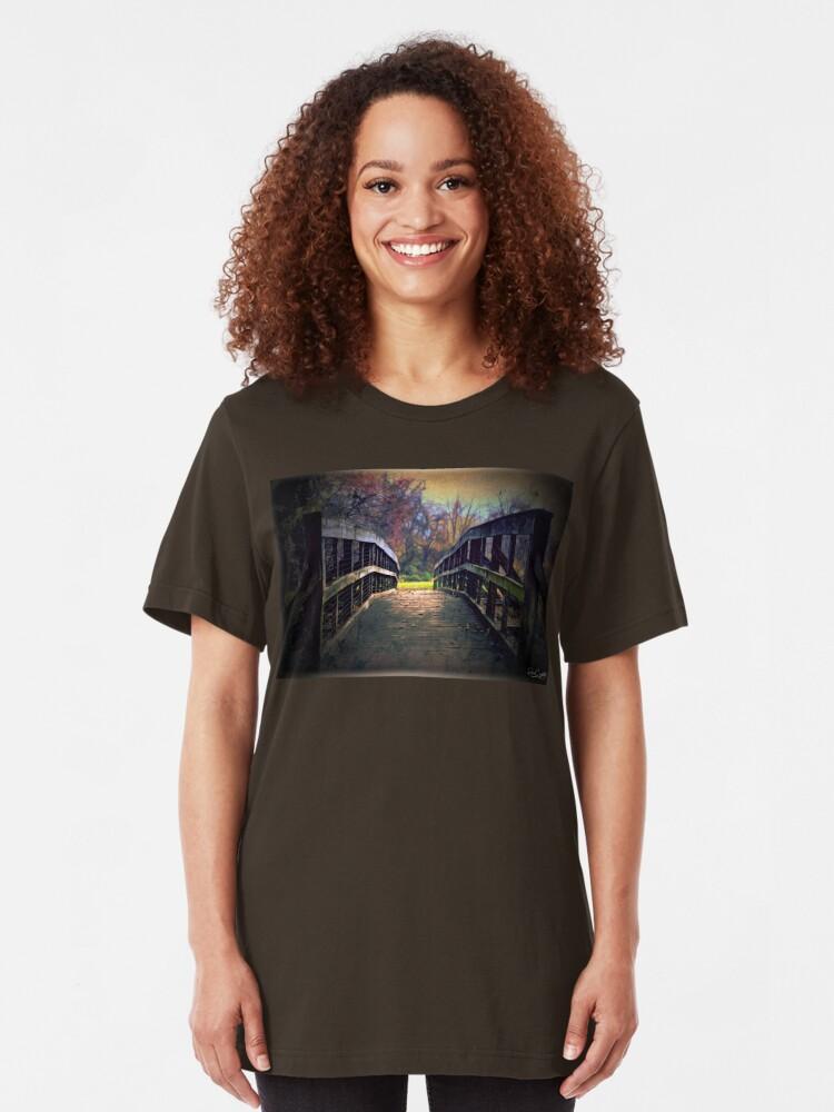Alternate view of A Bridge to Autumn Slim Fit T-Shirt