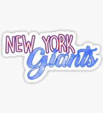 New York Giants Sticker Sticker