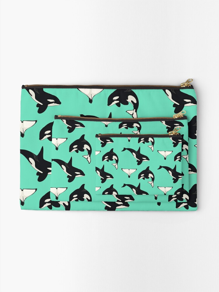 Alternate view of Orca Whale Zipper Pouch