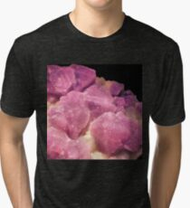 Sparkling Purple Amethyst Clouds  Tri-blend T-Shirt