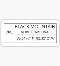 Black Mountain Sticker