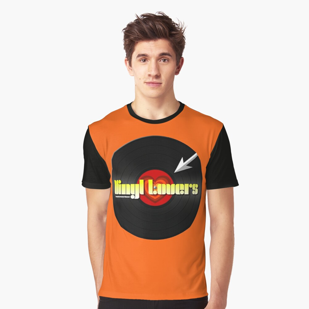 Vinyl Lovers Graphic T-Shirt Front