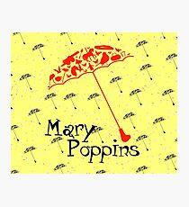 Raining Mary Poppins 2 Photographic Print