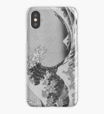 Black and White Japanese Great Wave off Kanagawa by Hokusai iPhone Case/Skin