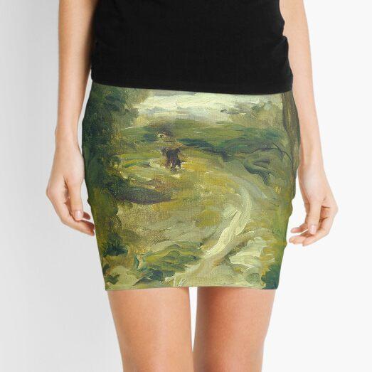 Landscape Between Storms Oil Painting by Auguste Renoir Mini Skirt