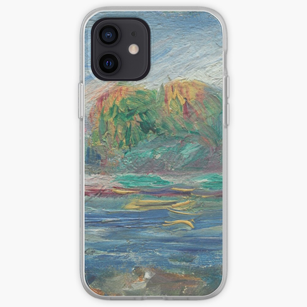 The Blue River Oil Painting by Auguste Renoir iPhone Case & Cover