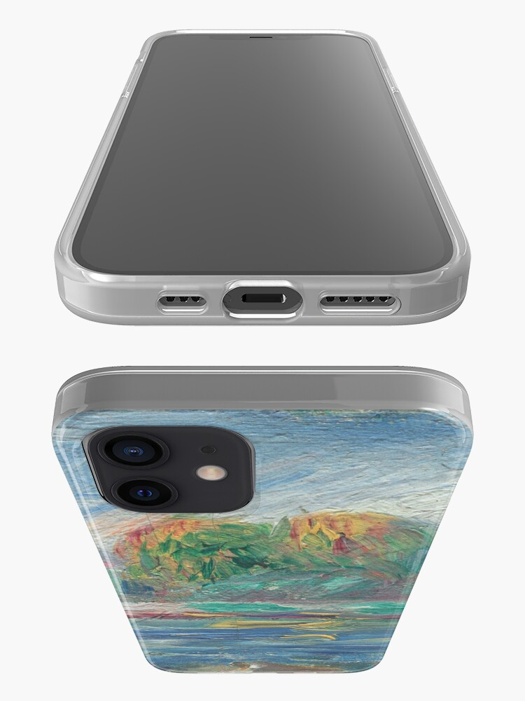 Alternate view of The Blue River Oil Painting by Auguste Renoir iPhone Case & Cover