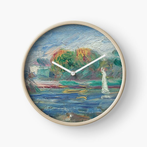 The Blue River Oil Painting by Auguste Renoir Clock