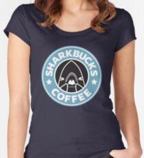 SHARKBUCKS Women's Fitted Scoop T-Shirt