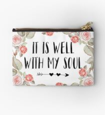 It Is Well With My Soul - Christian Quote Studio Pouch