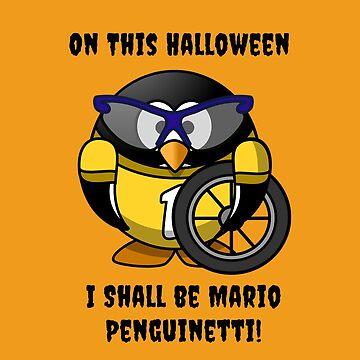 Halloween Penguin Racing Graphic by Julie7526