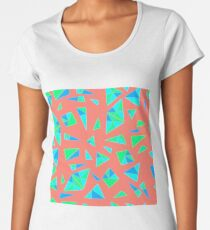 Bright,geometric, psychedelic style, seamless pattern of triangles shards of glass Women's Premium T-Shirt