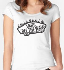 Vans Off The Wall Thrasher Flame Women's Fitted Scoop T-Shirt