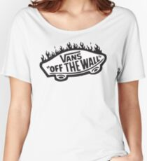 Vans Off The Wall Thrasher Flame Women's Relaxed Fit T-Shirt