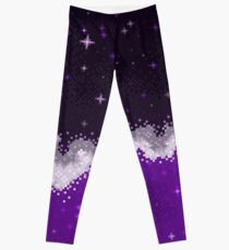 Legging Colorblock Galaxy: violeta, gris, blanco, negro