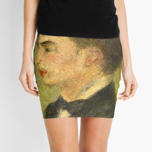 Georges Rivière Oil Painting by Auguste Renoir Mini Skirt