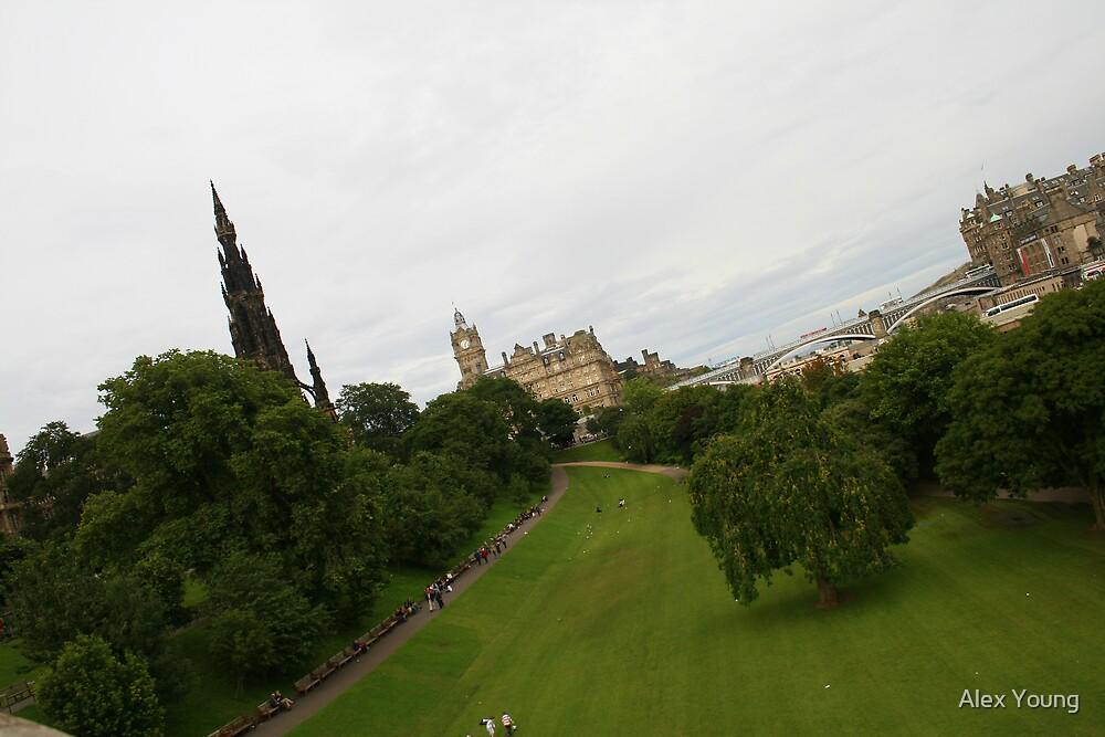 Princes Street Gardens Edinburgh by Alex Young