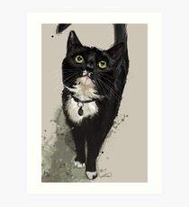 Project Caturday - Junior of The Black Cat Club Art Print