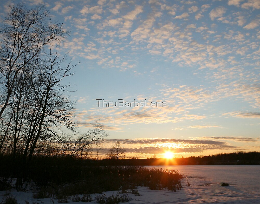 A February sunset... by ThruBarbsLens