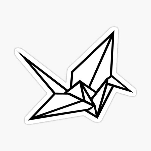Origami Paper Crane Sticker