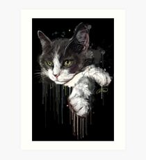 Project Caturday - Smudge Art Print