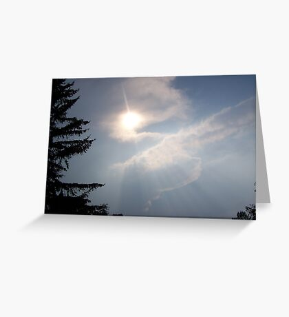 Wonderous Rays  Greeting Card