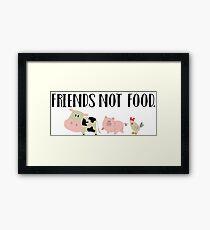 Friends Not Food - Animals Framed Print