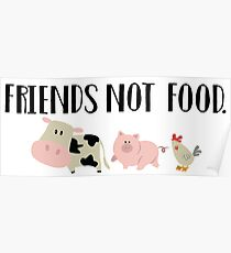 Friends Not Food - Animals Poster