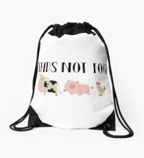 Friends Not Food - Animals Drawstring Bag