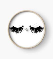 Eyelash Print Clock