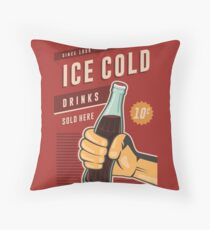 Ice Cold Drinks Throw Pillow